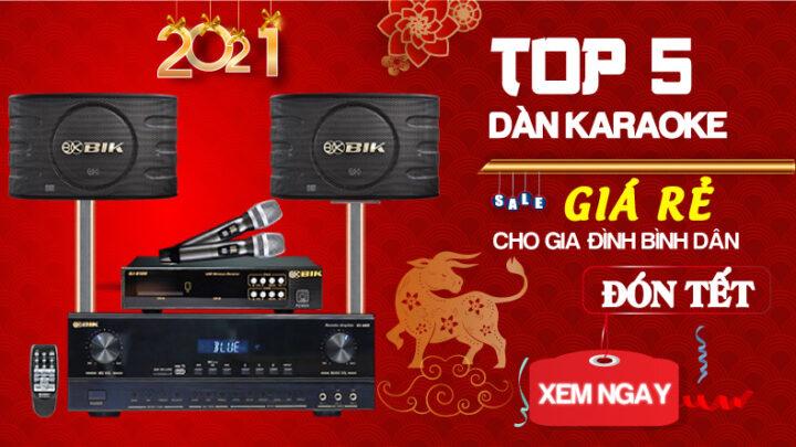Top 5 dàn karaoke giá rẻ cho gia đình bình dân đón Tết
