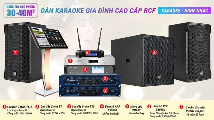Dàn Karaoke RCF 14 cao cấp đến từ ITALY đẳng cấp nhất