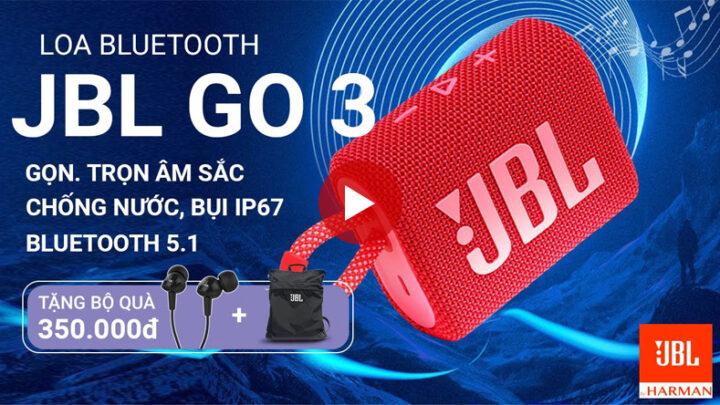 Đánh giá Loa JBL Go 3 | Chiếc loa bluetooth JBL nhỏ gọn có đáng mua?